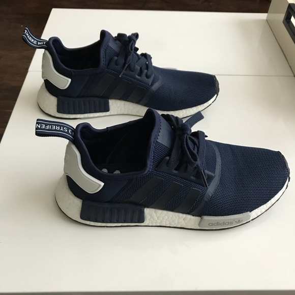 db814a8cdb51 adidas Other - RARE! Adidas NMD R1 Collegiate Navy Mesh Sneakers